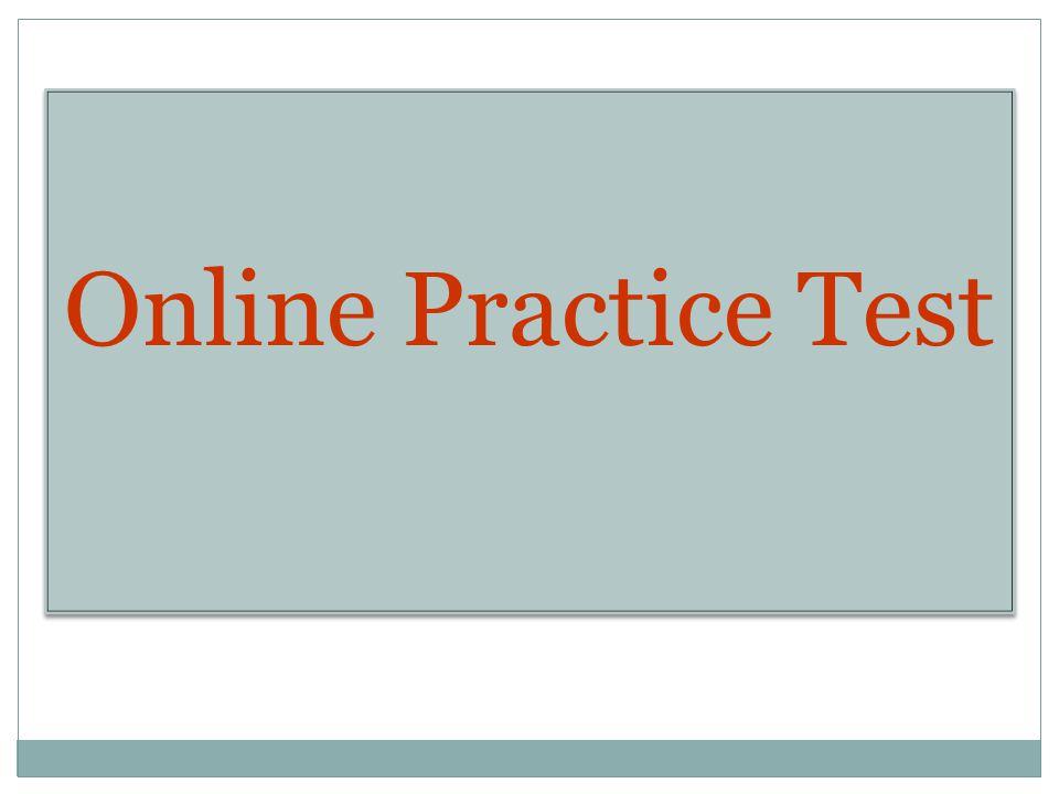 Online Practice Test