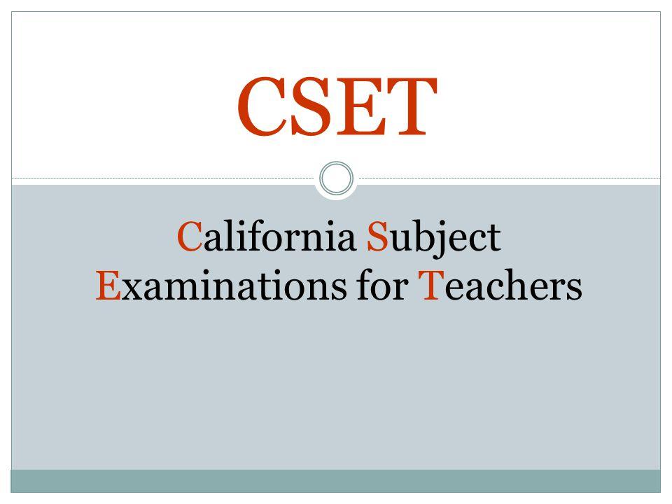 California Subject Examinations for Teachers