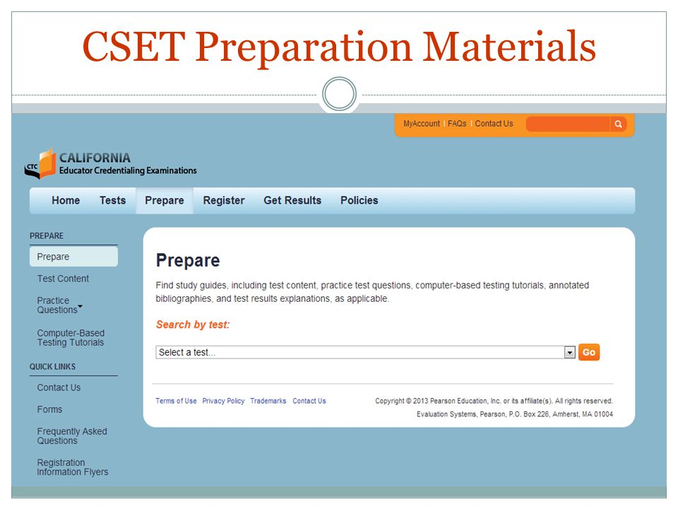 CSET Preparation Materials