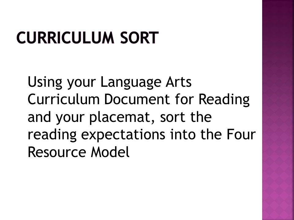Curriculum Sort
