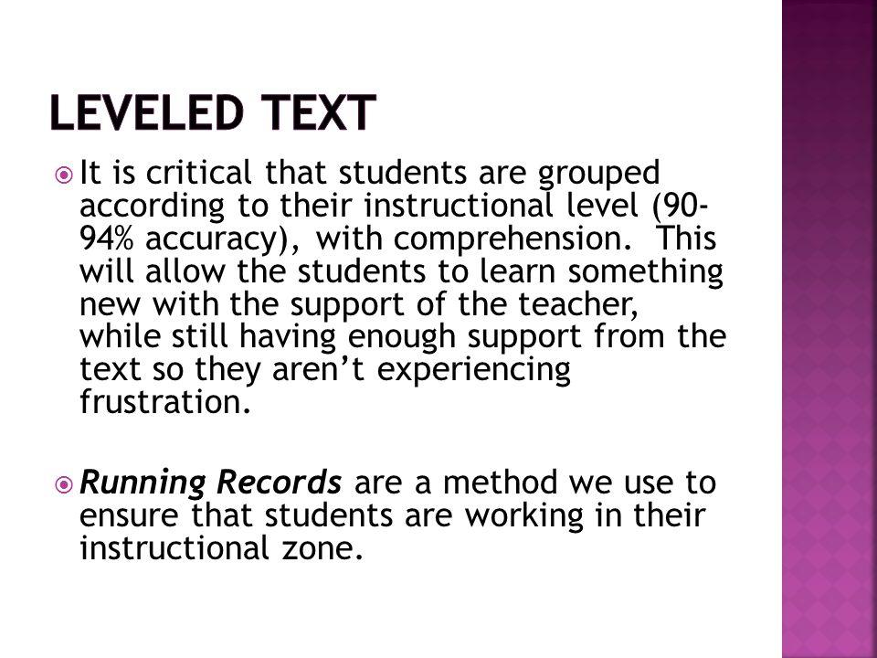 Leveled Text