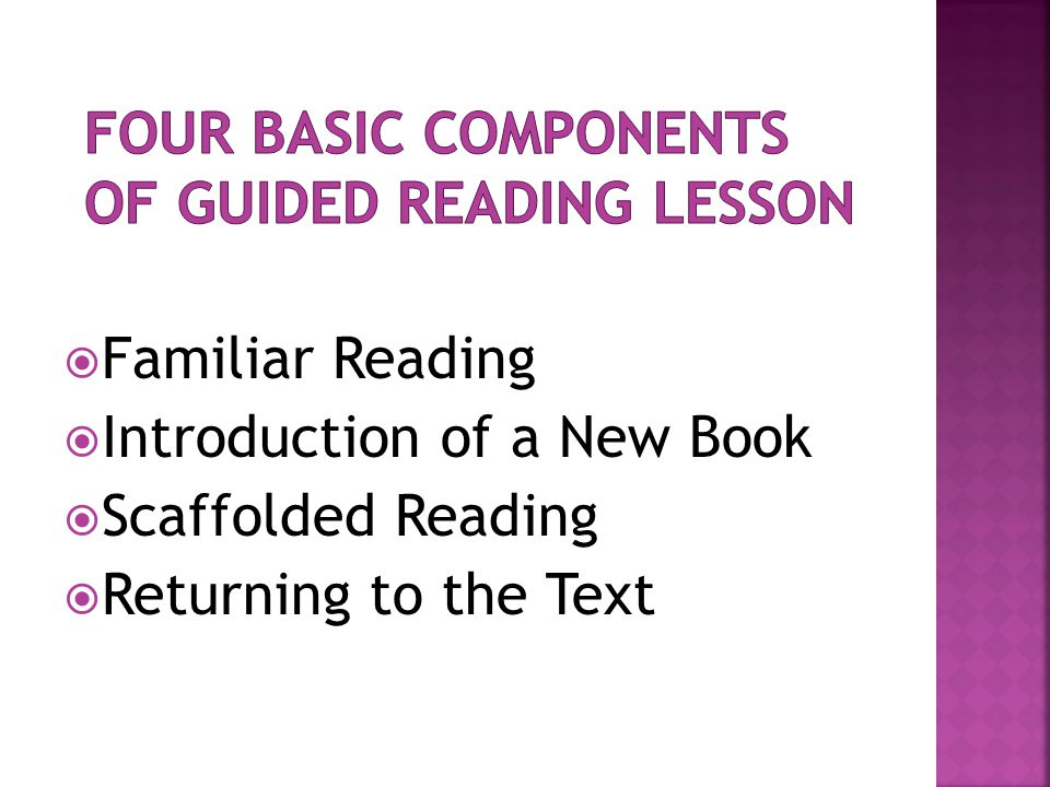 Four Basic Components of Guided Reading Lesson