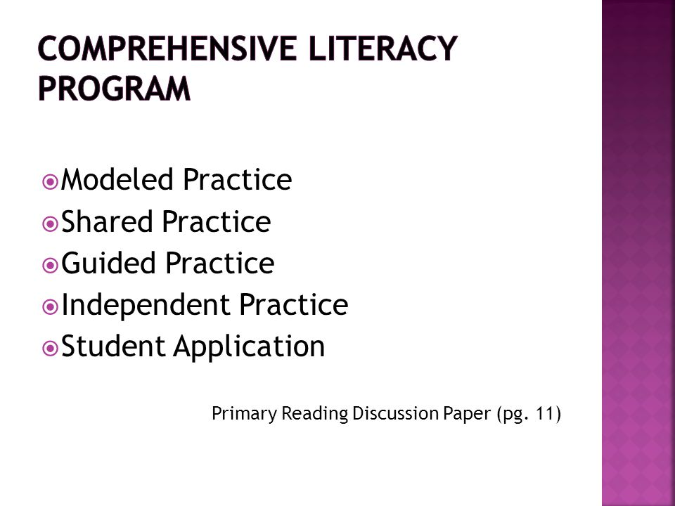 Comprehensive Literacy Program