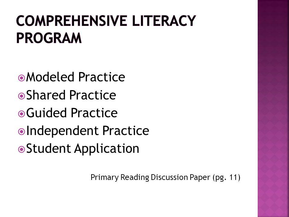 Comprehensive Literacy Program