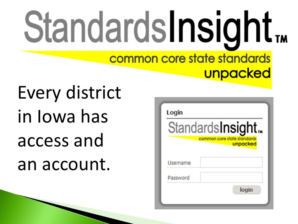 Every district in Iowa has access and an account.
