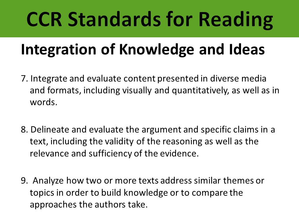 CCR Standards for Reading