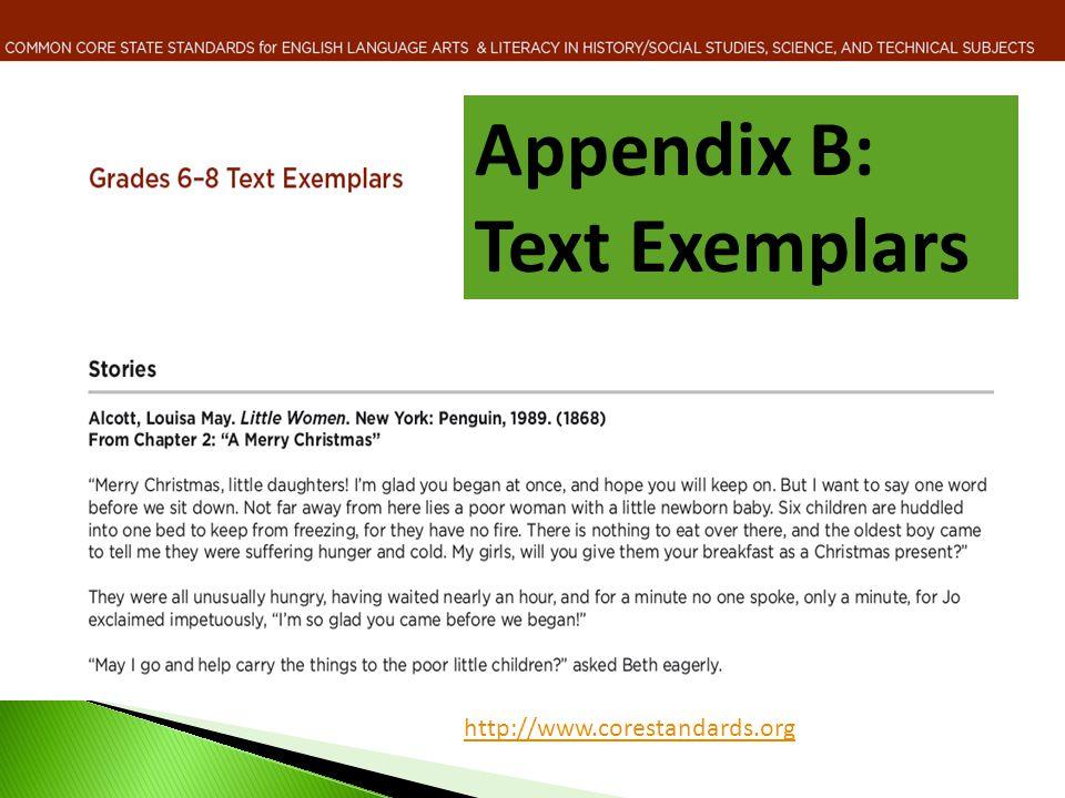 Appendix B: Text Exemplars http://www.corestandards.org