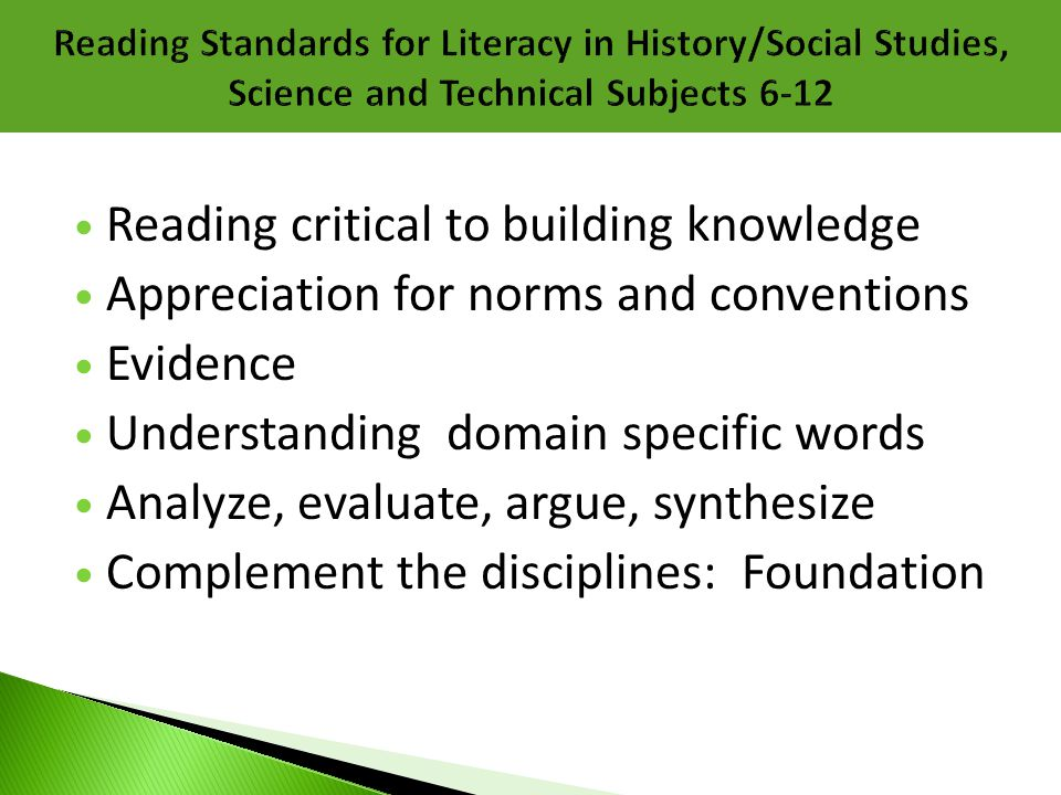 Reading critical to building knowledge