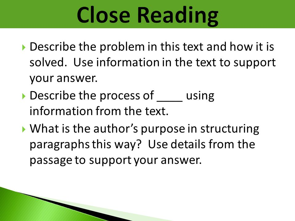 Close Reading Describe the problem in this text and how it is solved. Use information in the text to support your answer.