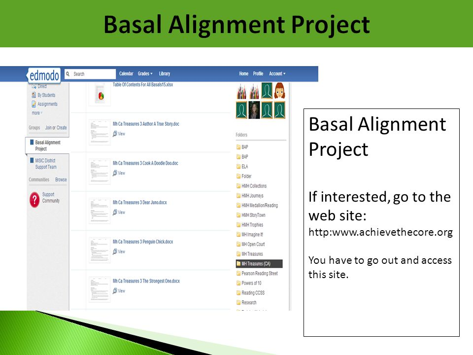 Basal Alignment Project
