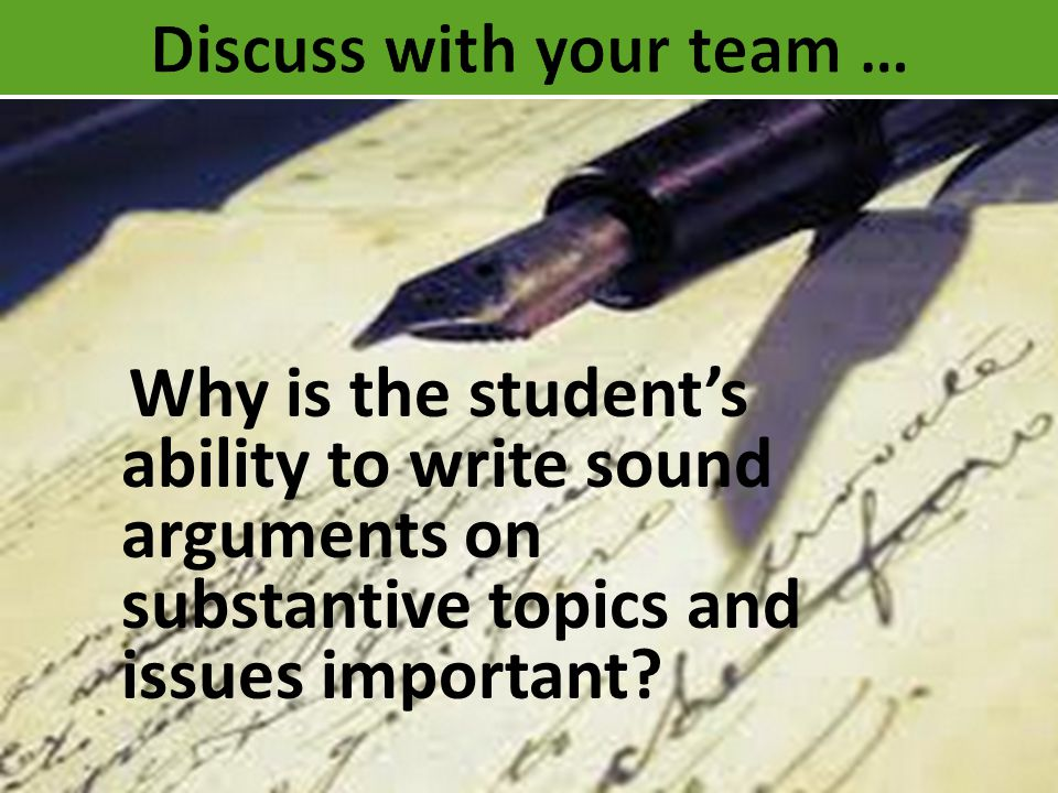 Discuss with your team …