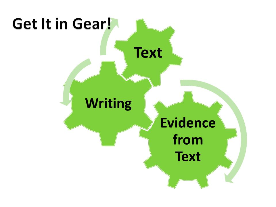 Text Get It in Gear! Evidence from Text Writing