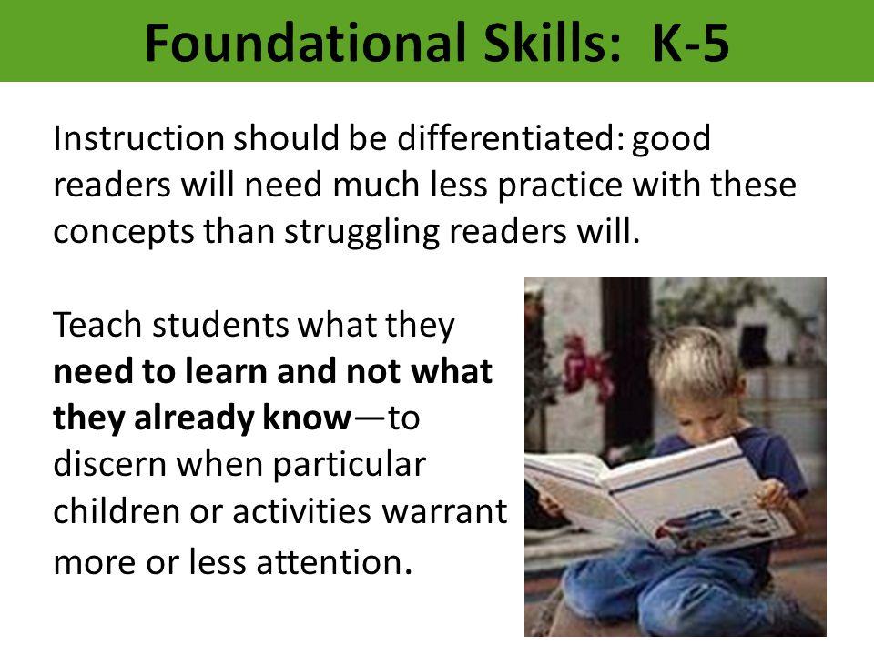 Foundational Skills: K-5