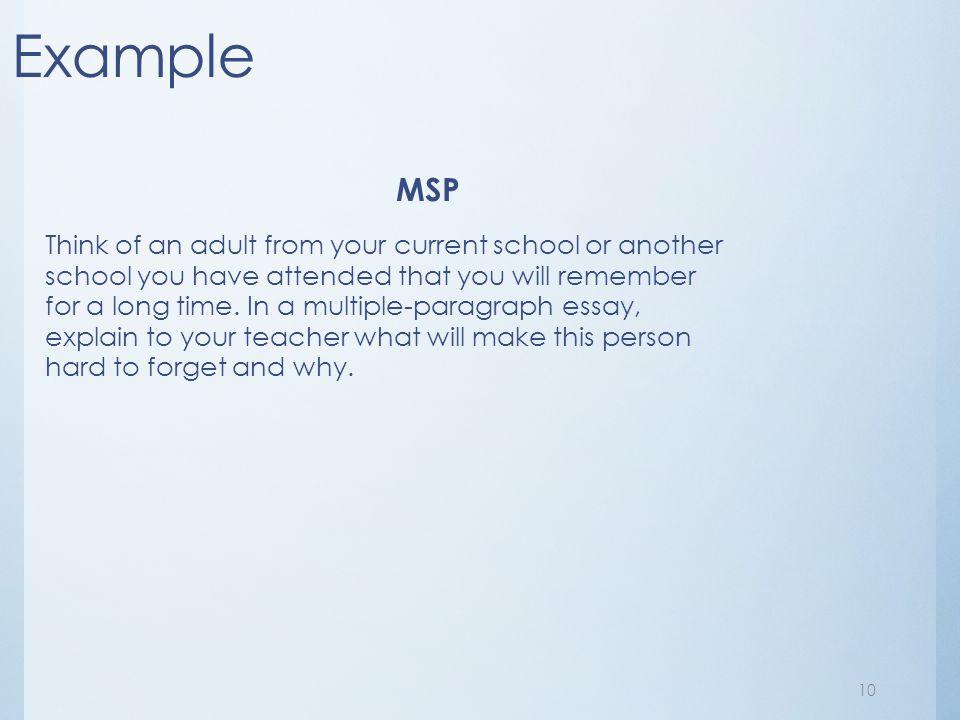 Example MSP.