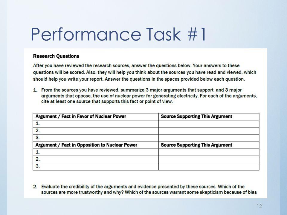 Performance Task #1
