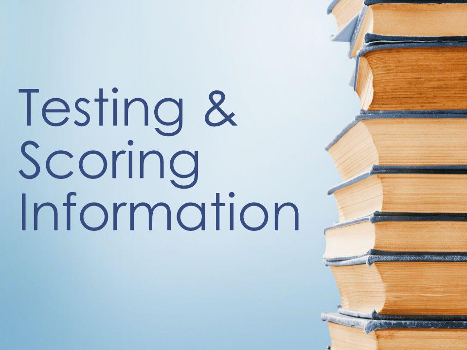 Testing & Scoring Information