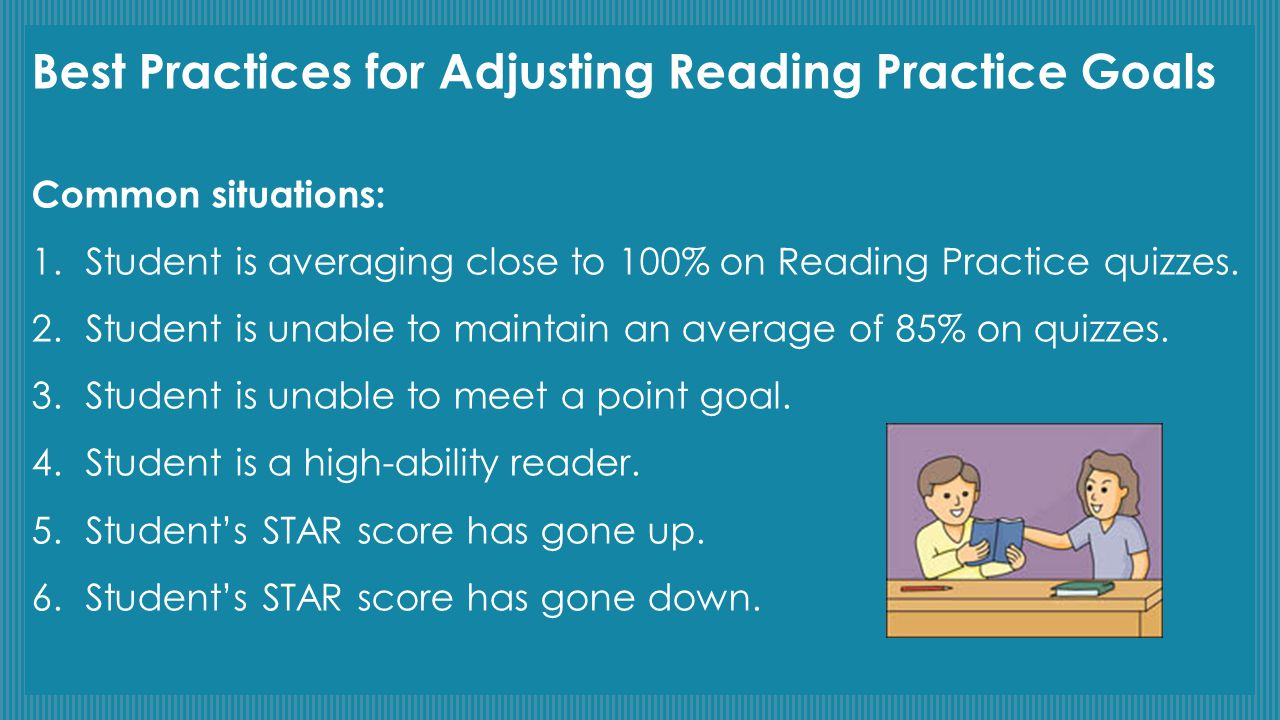 Best Practices for Adjusting Reading Practice Goals