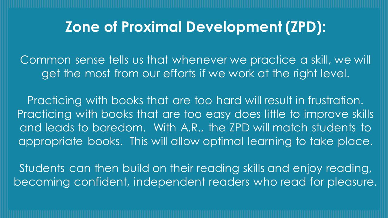 Zone of Proximal Development (ZPD):