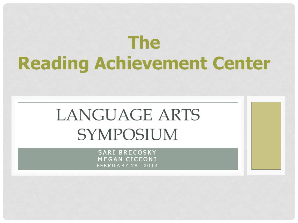 Language Arts Symposium