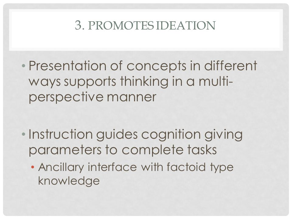 Instruction guides cognition giving parameters to complete tasks