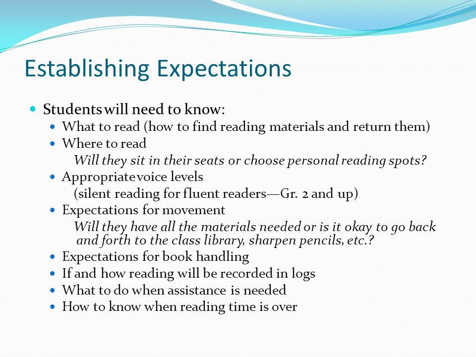 Establishing Expectations