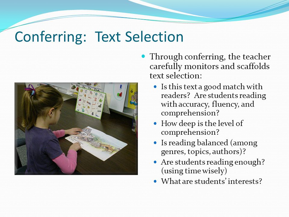 Conferring: Text Selection
