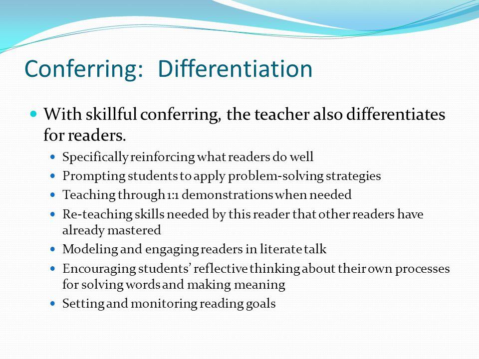 Conferring: Differentiation