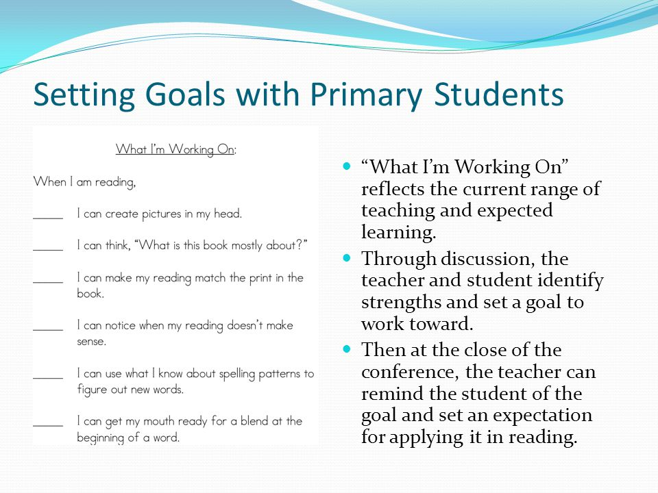 Setting Goals with Primary Students