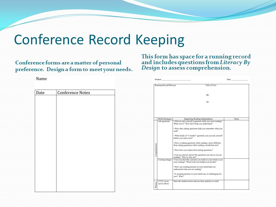Conference Record Keeping