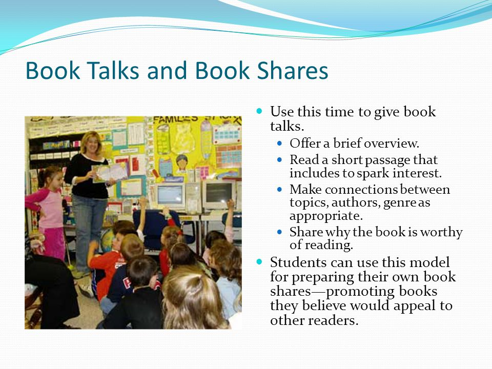 Book Talks and Book Shares