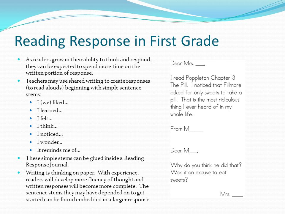 Independent Reading and Reading Response. - ppt download