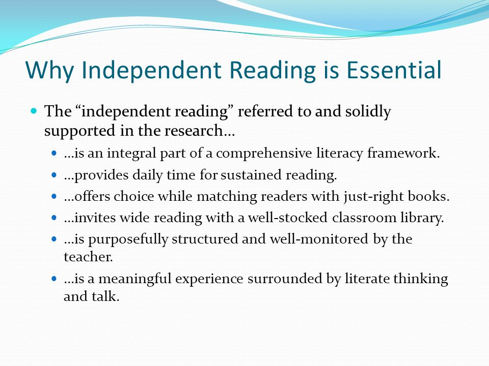 Why Independent Reading is Essential