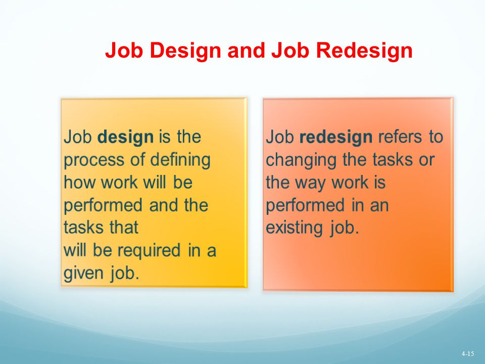 Job Design and Job Redesign