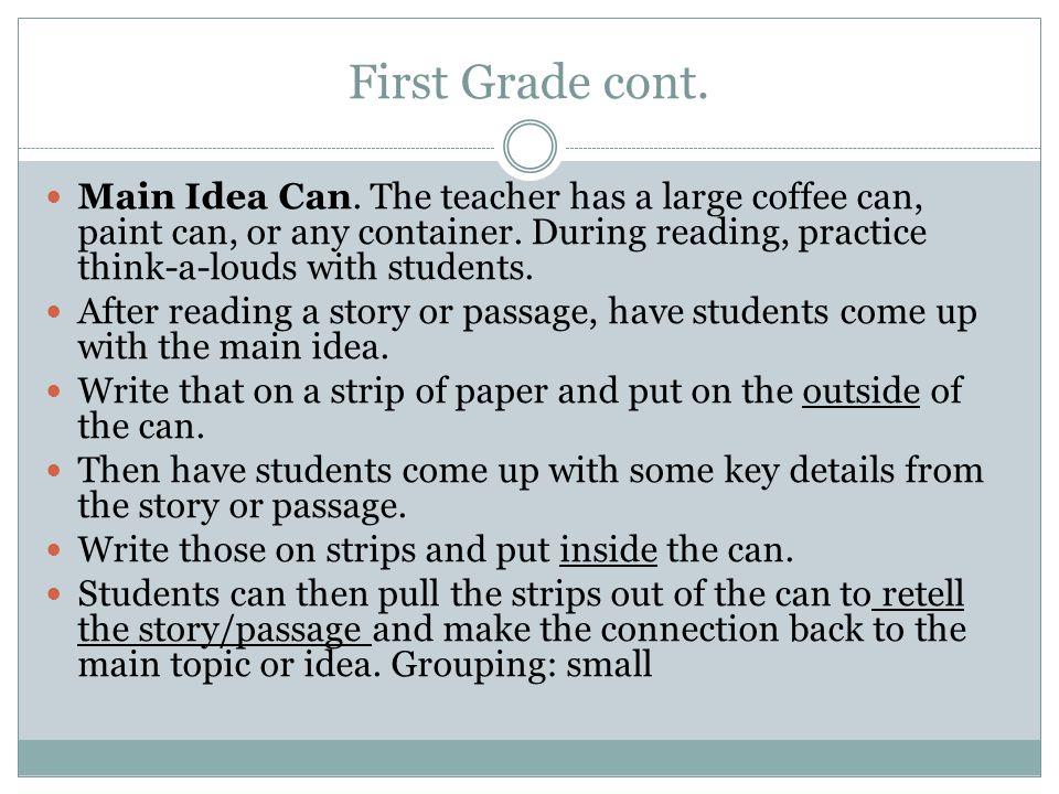 First Grade cont.