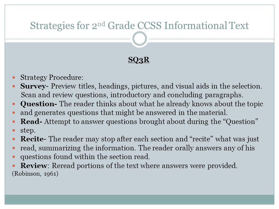 Strategies for 2nd Grade CCSS Informational Text