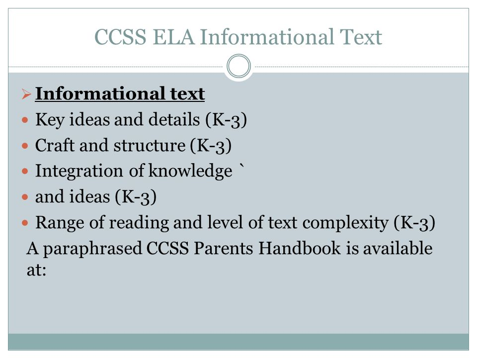 CCSS ELA Informational Text