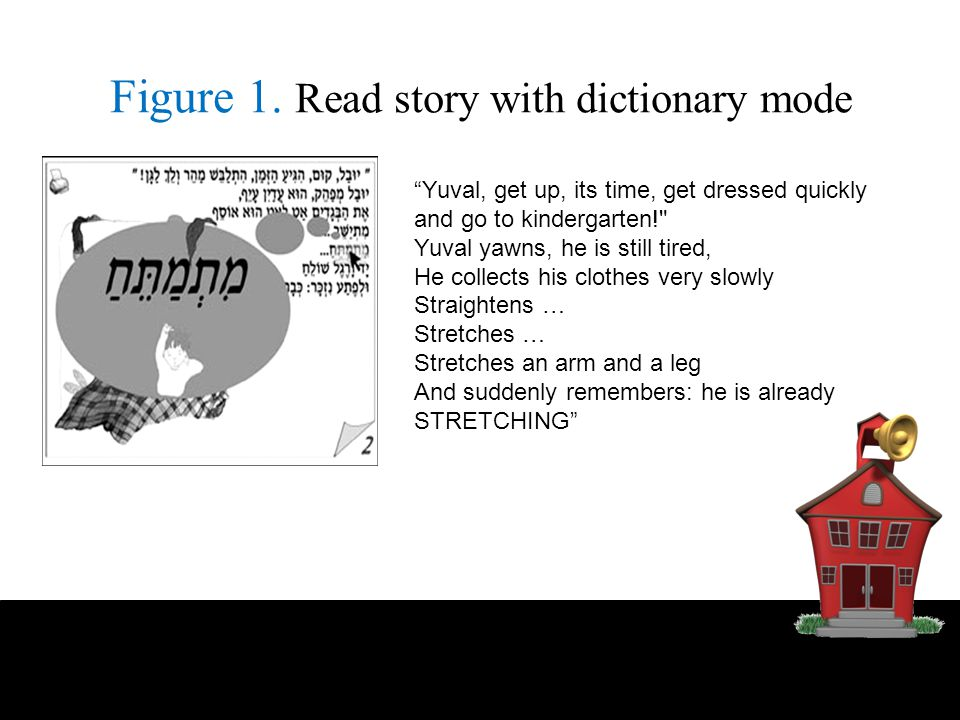 Figure 1. Read story with dictionary mode