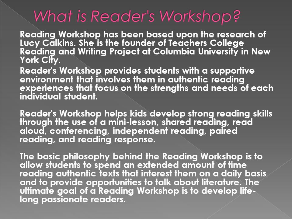 What is Reader s Workshop