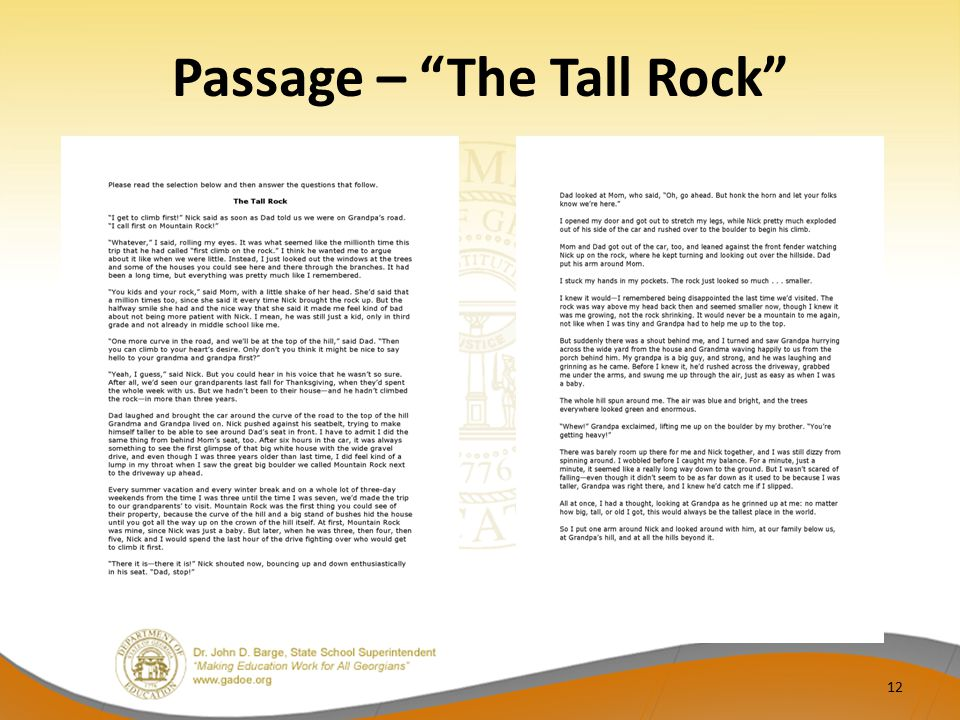 Passage – The Tall Rock