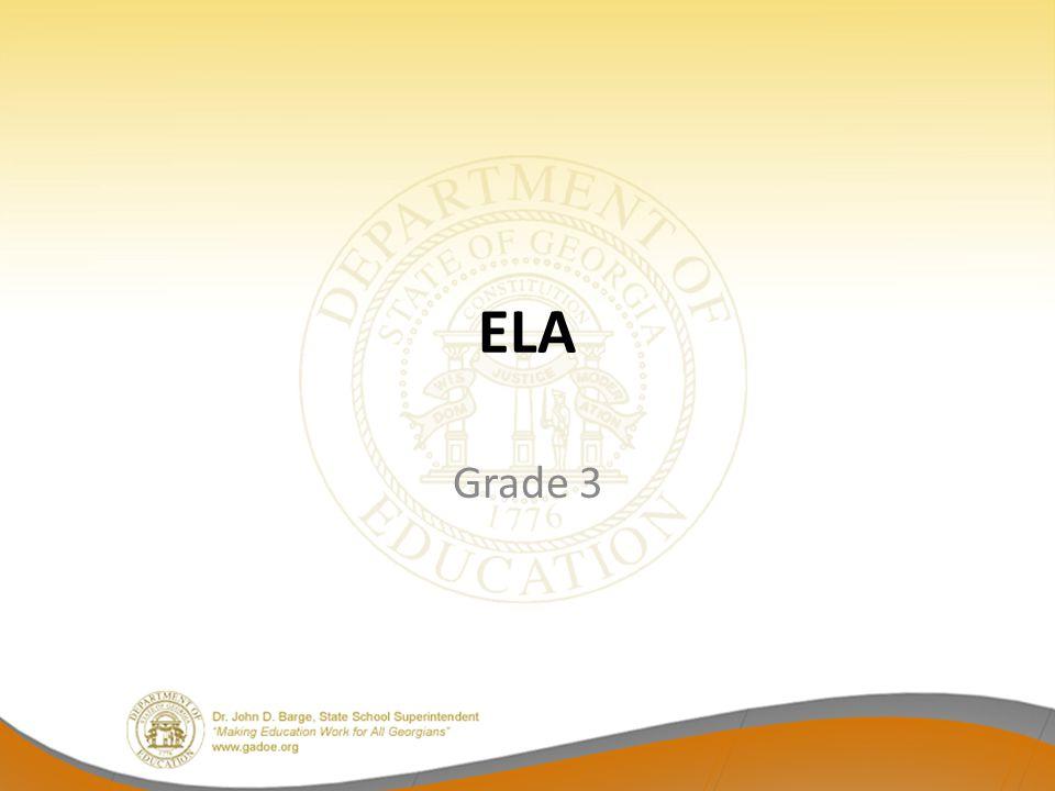 ELA Grade 3