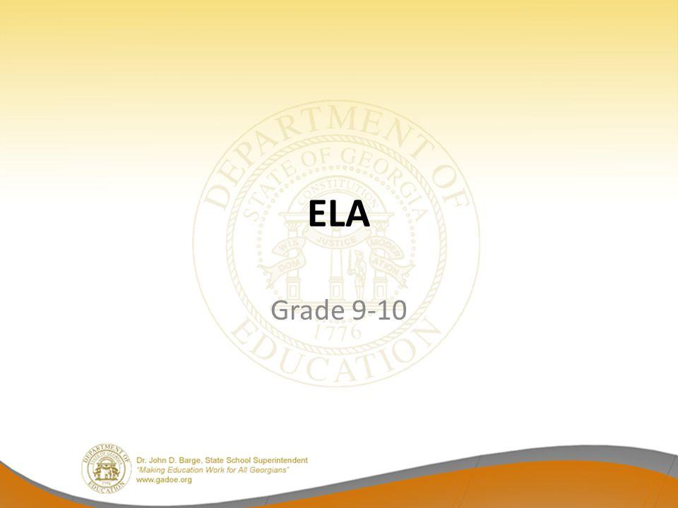 ELA Grade 9-10