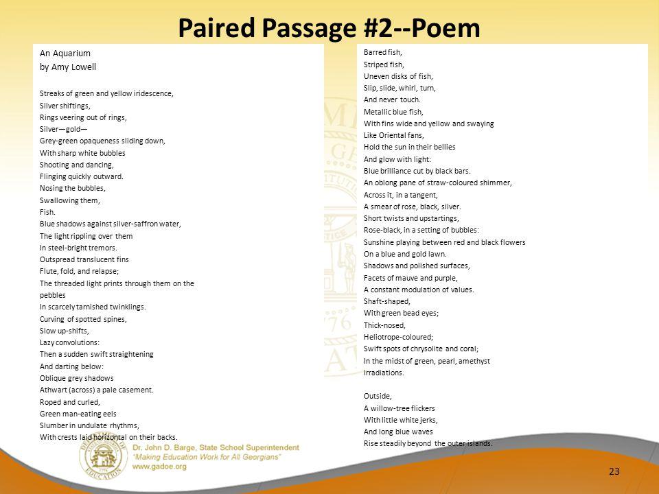 Paired Passage #2--Poem