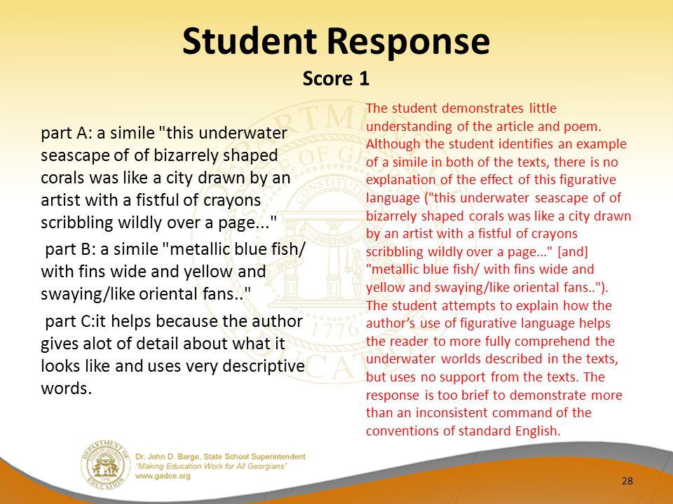 Student Response Score 1