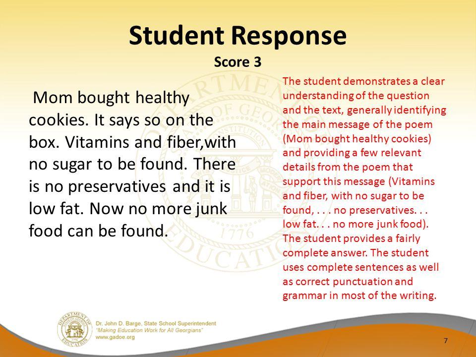 Student Response Score 3