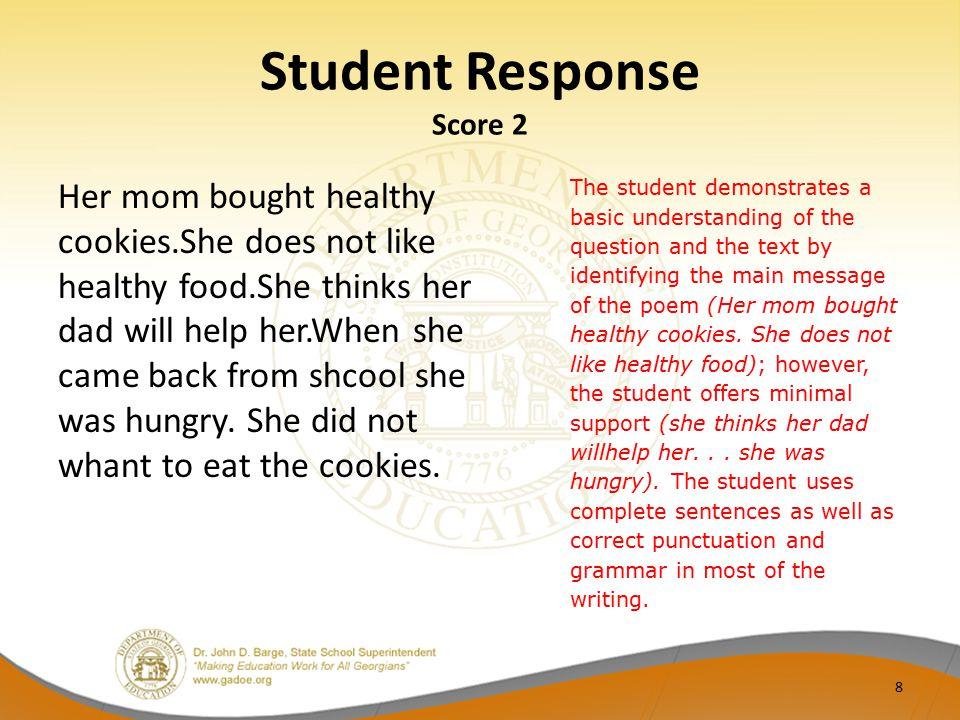 Student Response Score 2