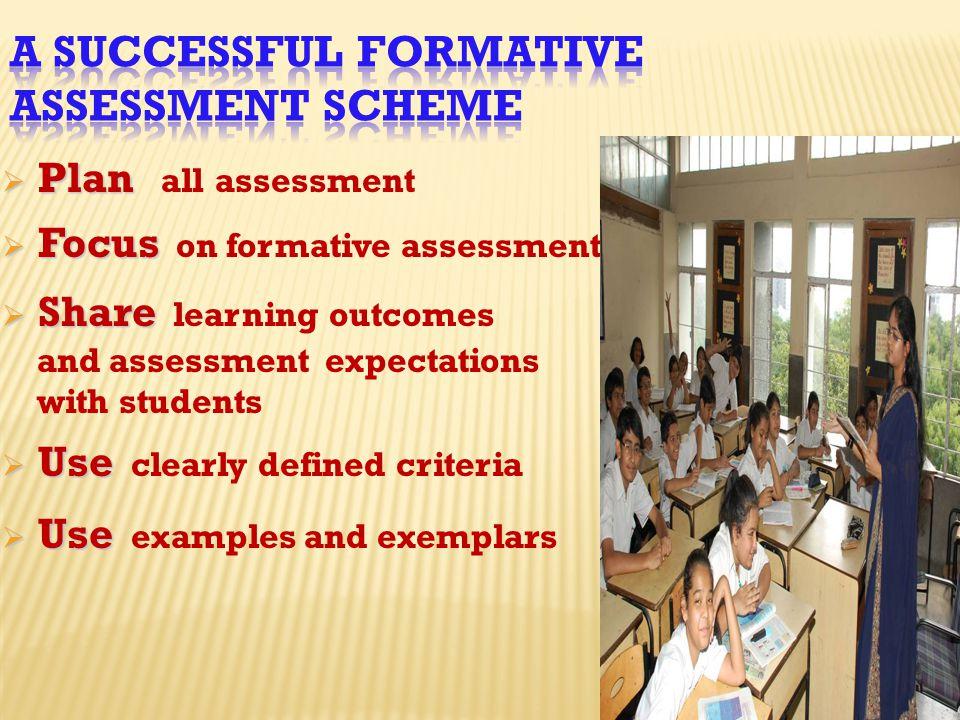 A Successful Formative Assessment Scheme
