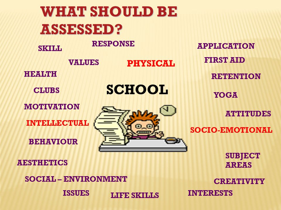 WHAT SHOULD BE ASSESSED