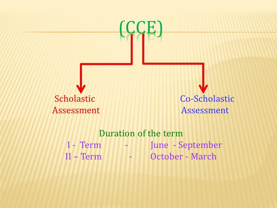 II – Term - October - March