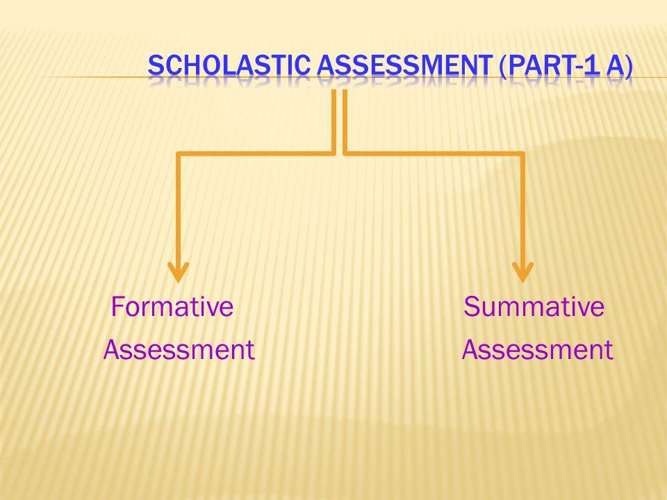 Scholastic assessment (part-1 a)