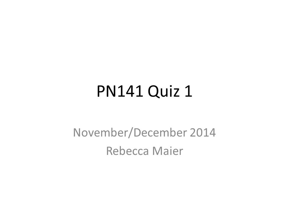 November/December 2014 Rebecca Maier